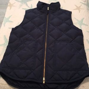 J. Crew down quilted vest